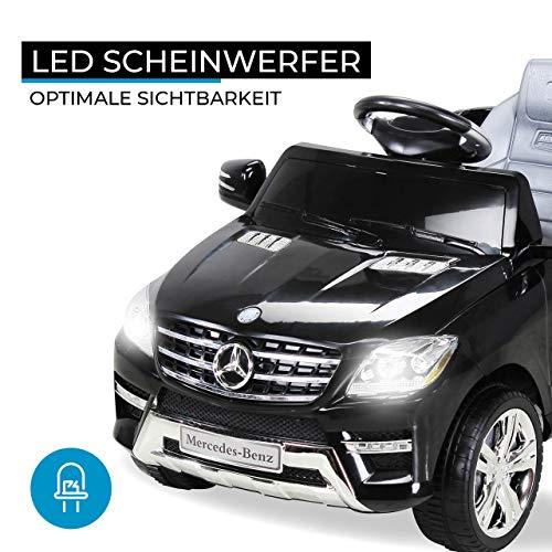 RC Auto kaufen Kinderauto Bild 2: Kinder Elektroauto Mercedes ML 350 Original Lizenz Auto 2X 25 Watt Motor Kinderauto Kinderfahrzeug Elektroauto (Schwarz)*