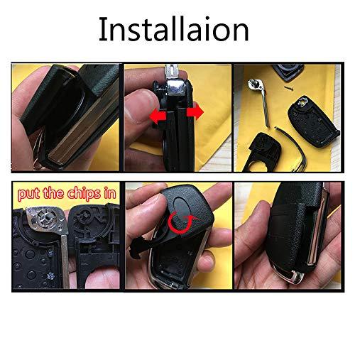 3 Button Car Remote Key Shell For Hyundai Creta I20 Tucson Elantra Santa fe Ix35 Ix45 Flip Key Fob Case Replacement Repair Kit