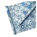 Fondo de pantalla floral azul - Papel pintado impreso HD...