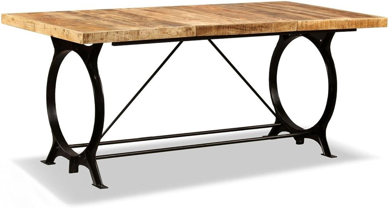 VidaXL Esstisch Mangoholz Massiv 180 cm Esszimmertisch Küchentisch Holz Tisch