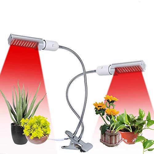 Tomshine 50W 100 LEDs Plant Light Full Spectrum Dual Heads 360° Goosenecks...