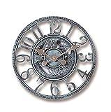 12 Pulgadas Reloj de Pared Retro Jardín IP44 Relojes de Pared Decorativos a Prueba de Agua Reloj de Pared Antiguo de decoración Vintage Reloj con Pilas para Cocina Sala de Estar Dormitorio