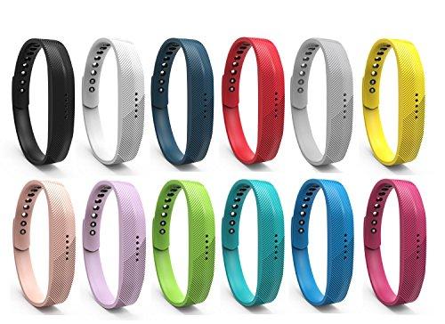 BeneStellar 12 Colors Bands for Fitbit Flex 2, Replacement Bracelet Strap Band for Fitbit Flex 2
