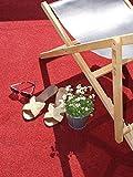 Premium Rasenteppich Meterware GREEN - Rot, 2,00m x 5,00m, Vlies-Rasen mit Noppen, Pool-Unterlage Poolmatte, Outdoor Teppich, Bodenbelag für Balkon, Terrasse & Aussenbereiche - 4