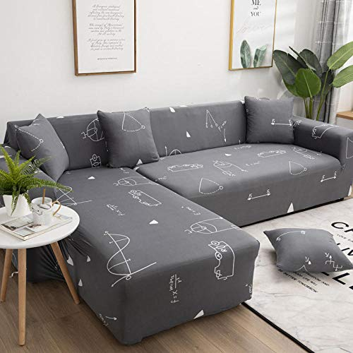 Sofa Slipcovers 4 seater Xueba's scratch paper polyester material sofa bed cover for Living Room Furniture Protector with Elasticity for Kids Dogs Cat Pet and with 3 Pillow Cases and Anti-slip strip
