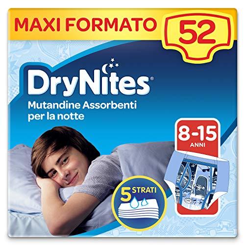 Drynites Mutandine Assorbenti per la Notte per Bambino,  27-57 Kg,  Confezione da 52 pezzi (4 x 13)