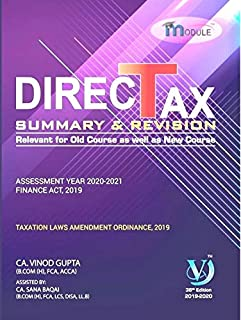 VG learning Direct Tax Summary and Revision Module Old and New Syllabus for CA final May 2020 Exam