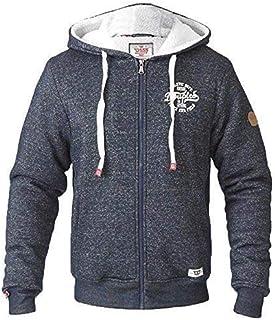 D555 Mens Jacket Duke Sweat Coat Hoodie Big King Size Sherpa Fleece Lined Winter