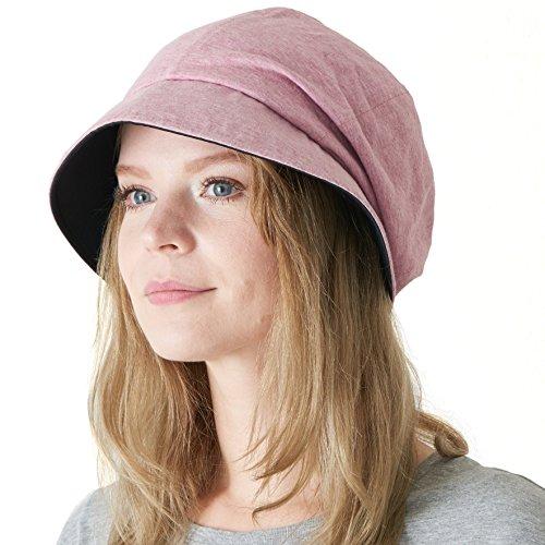 CHARM Casualbox   Damen Sonne Hut Bio Baumwolle Japanisch Design Weich UV Schutz Rot