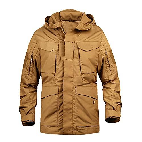Militärische Camouflage-Männer Kleidung Armee Taktische Herren Windbreaker Hoodie Feldjacke Outwear Gr. M, C