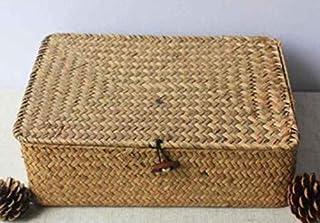 dsd Boucle Noire tissée à la Main de Panier de Rangement avec la boîte de Rangement cosmétique de Bureau de boîte de Range...