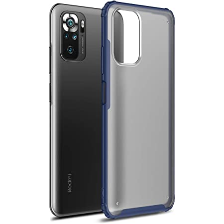 Ranyi for Xiaomi Redmi Note 10 /10S Case, Hybrid TPU Bumper Translucent Matte Cover with 4 Reinforced Corners [Wireless Charging] Slim Full Body Protective Case for Xiaomi Redmi Note 10 /10S -Navy