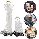 Chizea 100 Stück Flachdocht Kerzendocht für Kerzenherstellung