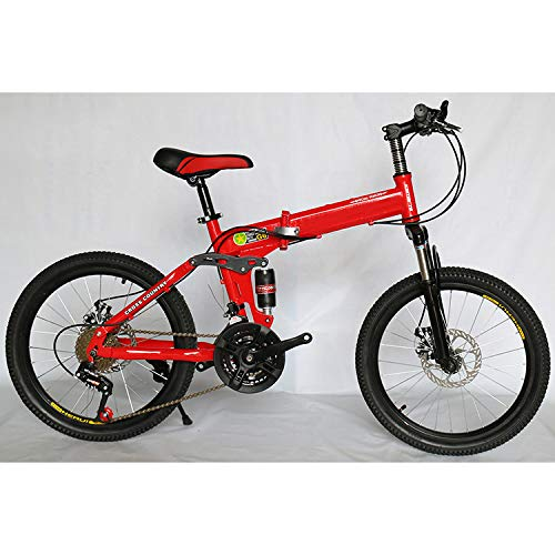 "CEALEONE Bike-to-Go Folding Fahrrad - 20\"" Rad, hinten Hydraulic Shock Aufhängung, Faltbare Pedale, Aluminium-Legierung Fahrrad-Rahmen,Rot,21speed"