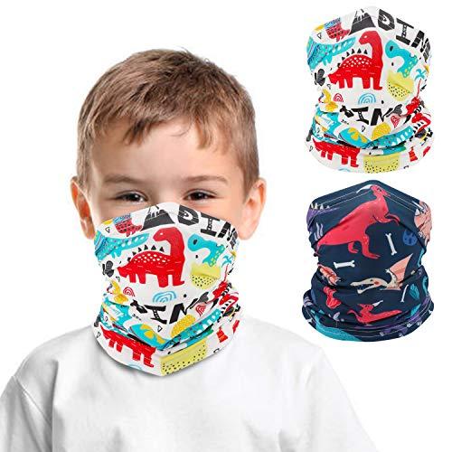 QKURT 2 Stück Halstuch für Kinder, UV-Schutz, Multifunktionstuch für Outdoor-Sport, Motorradfahren, Reiten, Jungen und Mädchen, Weltraum