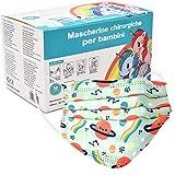 Mascherine Bambini Fantasia Certificata CE, Mascherine per bambini Protezione Nasello Regolabile, Elastico Morbido Resistente Multicolore Cartoon 50 Pezzi Adatto dai 4-12 Anni (Pianeta F8)