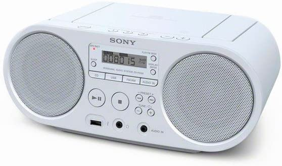 Sony Zsp S50 Cd Usb Radiorekorder Am Fm Weiß Audio Hifi