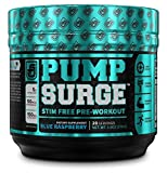 PUMPSURGE Caffeine Free Pump & Nootropic Pre Workout Supplement - Non Stimulant Preworkout Powder &...