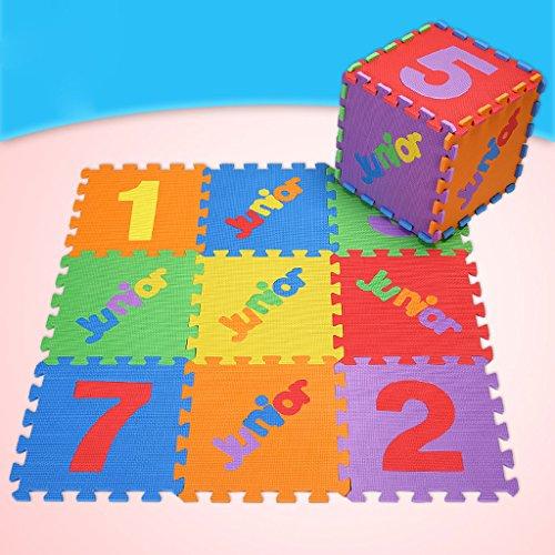 KTYX Alfombra for niños Mosaico digital en inglés EVA Juego de rompecabezas de piso ambiental digital Espuma de rastreo Alfombra de rompecabezas del alfabeto inglés 10 piezas 16 piezas 30x30x1 cm este