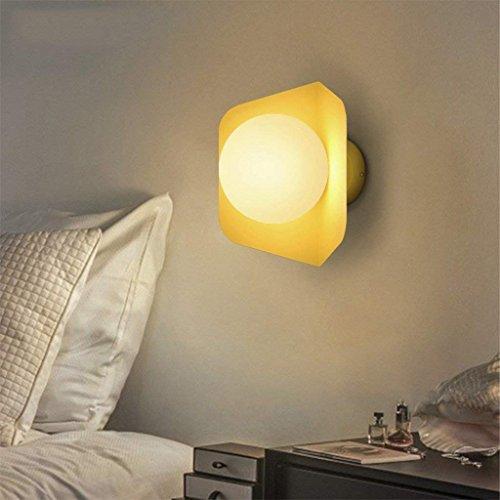DSJ Nordic creatieve eenvoudige moderne woonkamer trap gang slaapkamer nachtkastje wandlampen, geel