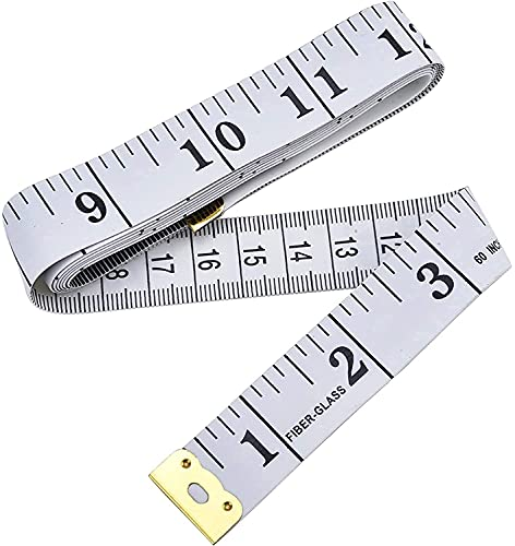 Ruban à Mesurer 60 Pouces150 cm Doux souple à petit prix sur Mesure pour Tissu, mesure Corps, le tour de poitrine, tour de taille,