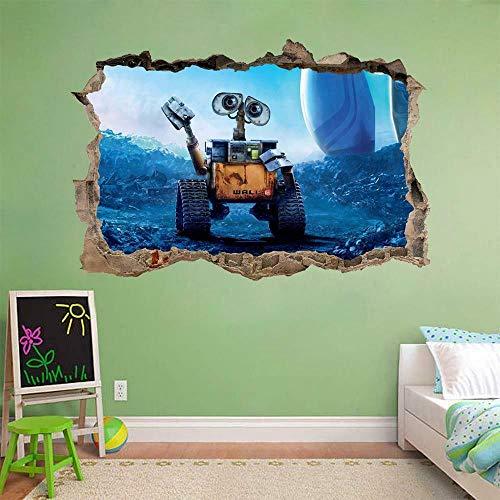 Pegatinas de pared Calcomanía de pared rota pegatina de pared removible dibujos animados anime Home Art Póster Arte 3D Mural 50x70cm