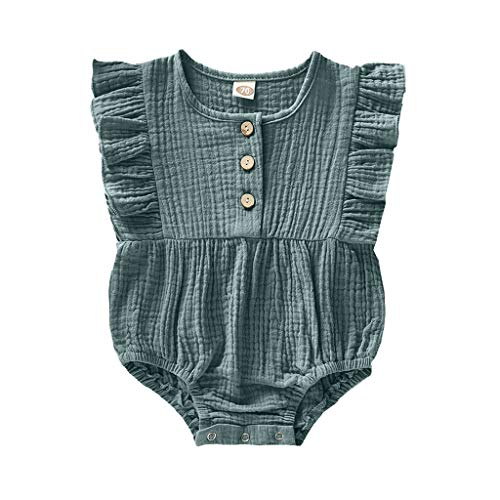 Plot Sommer Mädchen Strampler Baby Mode Ärmellos Rüschen Overall Einfarbig Kleidung Outfits Neugeborenes Baby Kind Bodysuit Romper Outfits