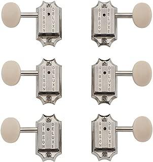 Deluxe White Button Tuner Set, Vintage Nickel