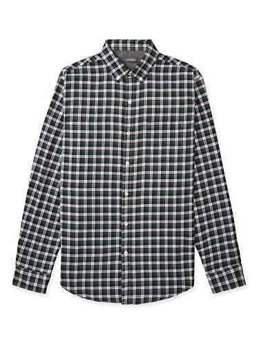 Van Heusen Men's Big & Tall Big Flex Long Sleeve Stretch Button Down Shirt, Botanical Green Windowpane, 3X-Large Tall