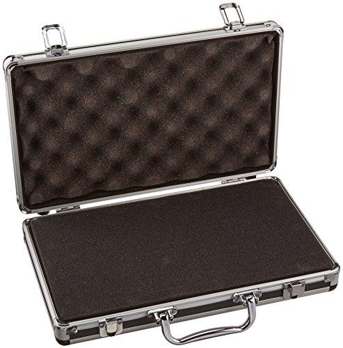 SRA Cases Aluminum Hard Case, Black, 13.6 x 8.1 x 2.6 Inches