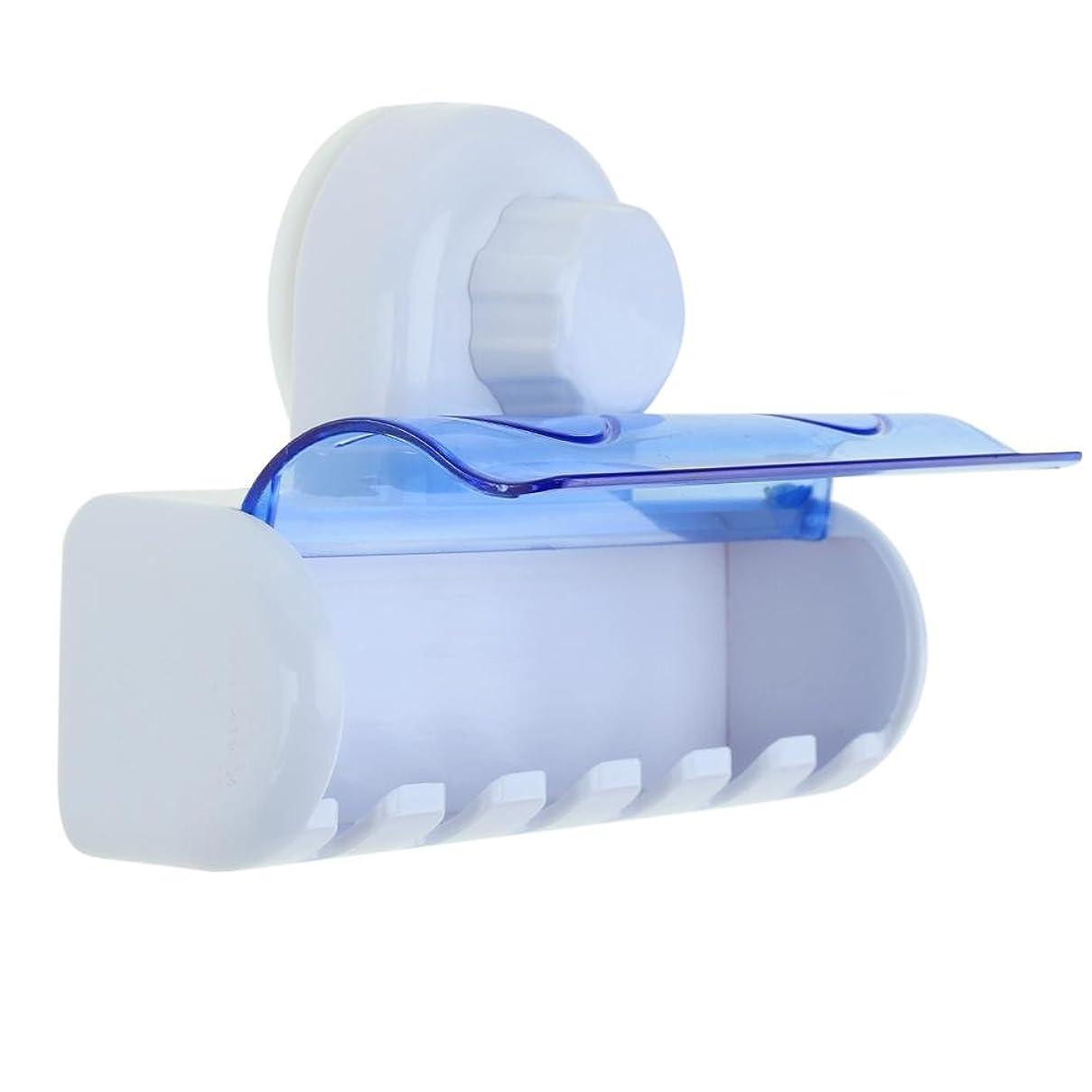 海冗長発送Demiawaking 強力吸盤付き ハブラシラック 歯ブラシ6本収納対応 取り付け簡単 壁掛け ハブラシホルダー