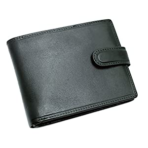 TOPSUM LONDON Men's Leather Wallet With Multi Credit Card, Id & Coin Pocket