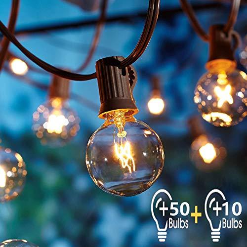 Catena Luminosa Esterno con 16.6m 60pc G40 Filo Lampadine,OxyLED Luci da Esterno Catene Luminose per Esterni Luminarie Lucine da Esterno Decorative per Giardino Natale Terrazza Matrimonio Partito