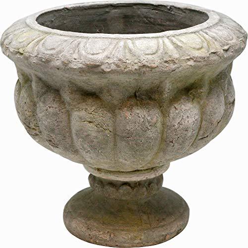 Pflanztopf Pokal mittel, Zement, grau, 21 cm, Blumentopf Antik Design Amphore
