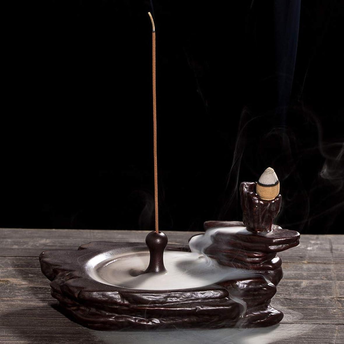 機関車ボックス所属リフロー香炉ホームオフィス装飾香スティックフレーム還流香炉16.5 * 9 cmに適したセラミック香炉ブラケット