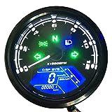 KKmoon Motorrad Tacho LCD Digital Display 0-12000 RPM Drehzahlmesser Kilometerzähler