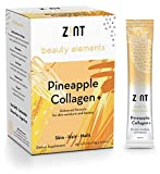 Zint Sweet Marine Collagen Powder Beauty Drink Mix (Pineapple): Sugar-Free Collagen Peptides Drink w/Glucosamine, Hyaluronic Acid, Vitamin C, Acai Extract (30 5g Packets)