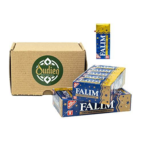 OUDIEN Original Falim Damla Diät Kaugummi ohne Geschmack und ohne Zucker, zuckerfrei 2x 20ger Pack a 5 Kaugummis, türkische Süßigkeit