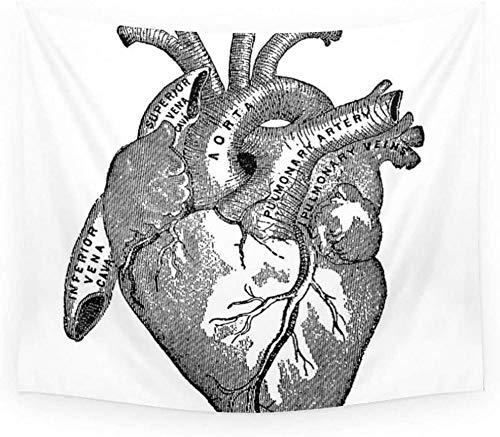 kjbfkghj Mandala de Moda Vintage Anatomía Corazón Impreso Decoración de la Sala de Colgar en la Pared Decoración del hogar Bohemio Toalla de Playa Decoración de la Pared -59x79 Pulgadas (150x200 cm)