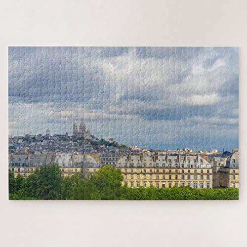 CICIDI Cityscape of Paris with Sacre Coeur, France Jigsaw Puzzle 1000 Pieces for Adult Entertainment DIY Toys , Graet Gift Home Decor