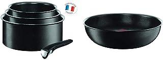 Tefal INGENIO EXPERTISE Set 3 casseroles 16/18/20 cm (1,5/2,1/3 L) + 1 Poignée Amovible InductionAntiadhésives Noir L650...