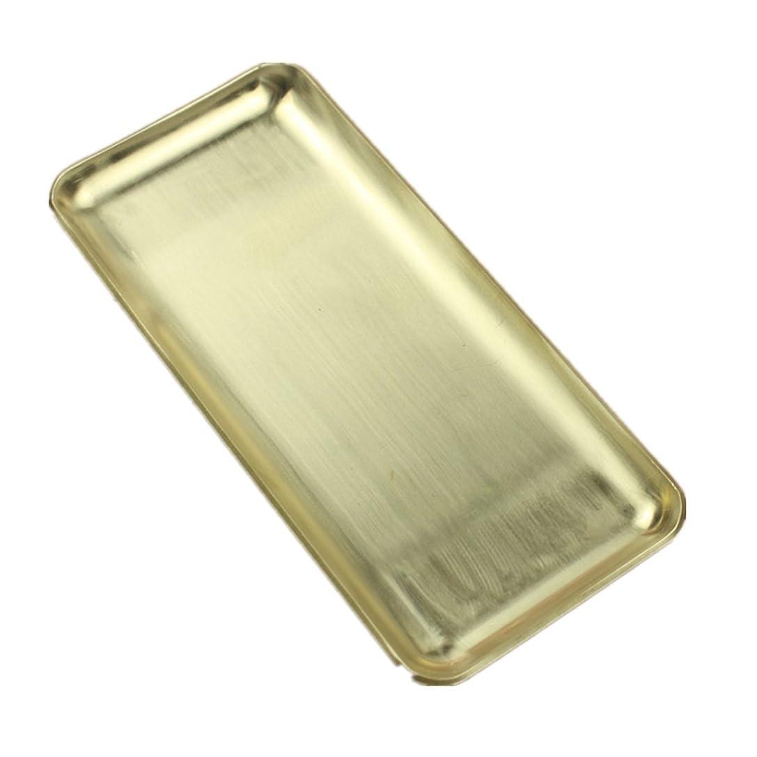 無駄だ豆合理的真鍮トレイ トレイ プレート 長方形 磨き仕上げ 真鍮製 洗面化粧台 カウンター ストレージ ゲストタオル 香水瓶 ヘアブラシ ファッション