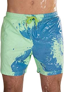 Mcottage Temperature Sensitive Color Changing Beach Pants Shorts Soft for Swimming Pool