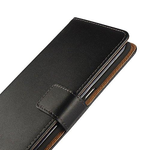 Eximmobile - Book Case Handyhülle für Huawei Ascend Y530 mit Kartenfächer in Schwarz | Schutzhülle aus Kunstleder | Handytasche als Flip Case Cover | Handy Tasche | Etui Hülle Kunstledertasche - 6