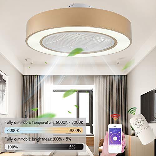 Deckenventilator Mit Beleuchtung LED Fan Deckenleuchte, Dimmbar Mit Fernbedienung, Einstellbare Windgeschwindigkeit, 72W Moderne Kreative Ultra-Leise Wohnzimmer Schlafzimmer Fan Lampe (Ø55CM)