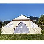 Latourreg Cotton Canvas 5X4M Touareg Bell Tent Square Glamping Safari Tent with Double Door. 18