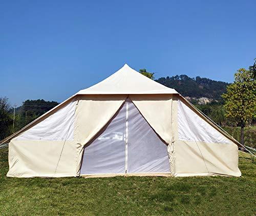 Latourreg Cotton Canvas 5X4M Touareg Bell Tent Square Glamping Safari Tent with Double Door. 9