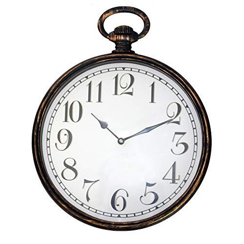Fishtec  Orologio Vintage a Soffietto con Orologio da Muro - Numeri Grandi - radiocomandato