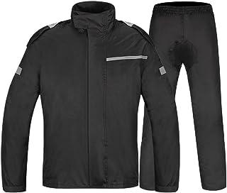 ZEMIN ポンチョ レインウェア レインコート ポンチョ ウインドブレーカー 防水 カバー 屋外 安全 ポリエステル、 2色、 5サイズあり (色 : 黒, サイズ さいず : XXL)
