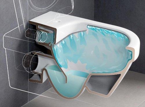 Villeroy & Boch Wand-WC Combi-Pack Architectura PLUS , DirectFlush, Spülrandlos C-plus - 3